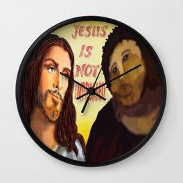Not Impressed. Wall Clock