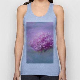 Purple Hydrangea Blossom Floral Nature Photo Unisex Tank Top