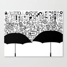Letter Rain Canvas Print