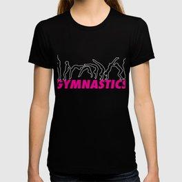 Top Fun Gymnastics Back Handspring Outline Gift Design T-shirt