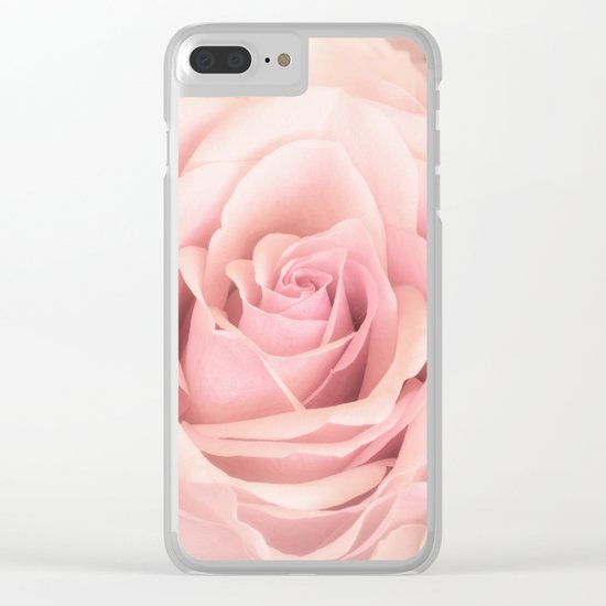 A rose is a rose - Wonderful pink Rose flower Clear iPhone Case