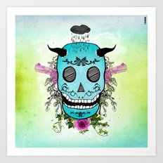 Rain Skull Art Print