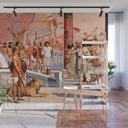 "Classical Masterpiece ""Egyptian Ramesses II Throne Room"" by Herbert Herget Wall Mural"