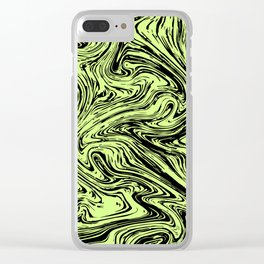 Marble pattern yellow pastel Clear iPhone Case