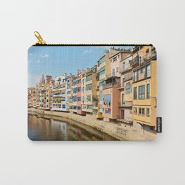Colorful houses and reflected in water in Girona Carry-All Pouch