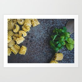 Colorful Pasta Art Print