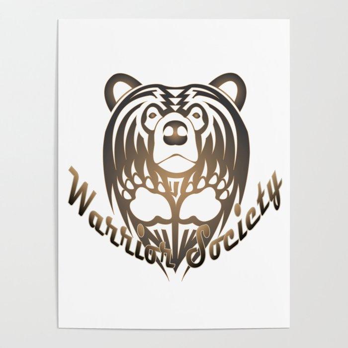 Warrior Society (Bear) Poster
