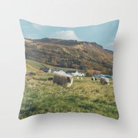 iceland Throw Pillows featuring Iceland by Chelle Wootten