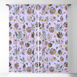 Pretty Sloth Pattern Blackout Curtain