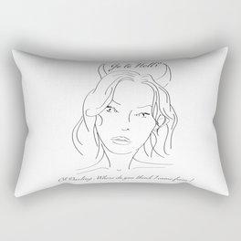 Go to Hell Rectangular Pillow