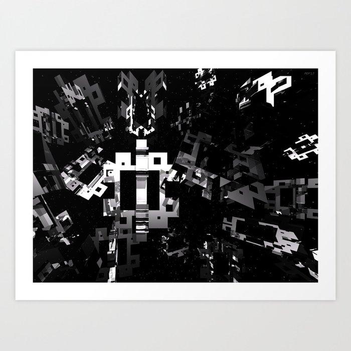 Space Debris Art Print