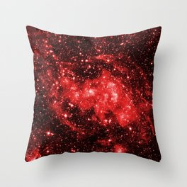 Chandra #1 Red Throw Pillow