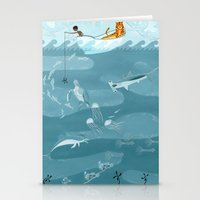 fishing Stationery Cards featuring Fishing by Erik Krenz