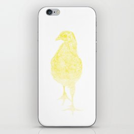 chick drawing, yellow iPhone Skin