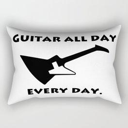 Guitar All Day Every Day Guitarist Rectangular Pillow