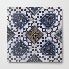 Persian Tile Metal Print