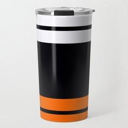 Team Colors 9...Black , white  and orange Travel Mug
