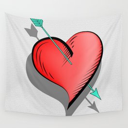 Heart and arrow, a touch of romance Wall Tapestry