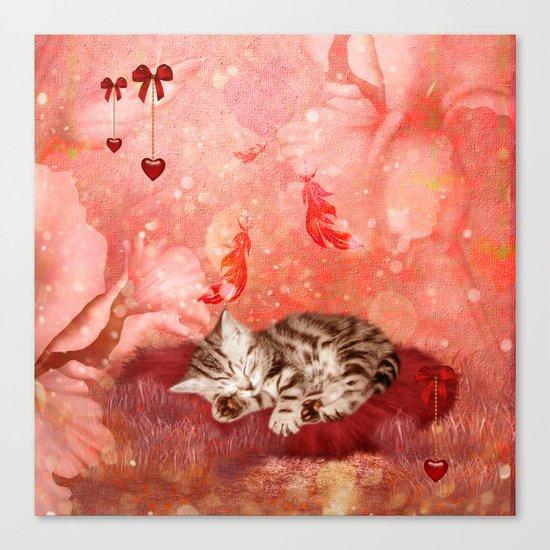 Cute little kitten Canvas Print