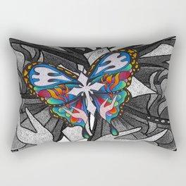 Christianity Themed Butterfly Art Rectangular Pillow