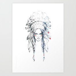 Indian Woman Art Print