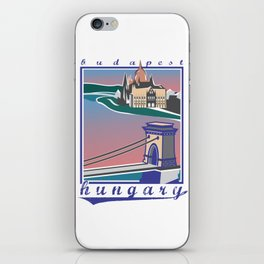 Budapest, Bridge, vintage colors iPhone Skin