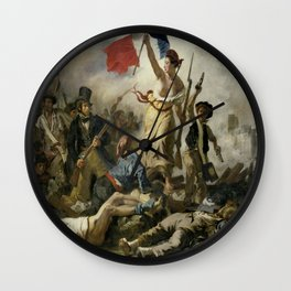 Eugene Delacroix's Liberty Leading the People Wall Clock