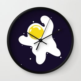 Fried Egg Odyssey Wall Clock