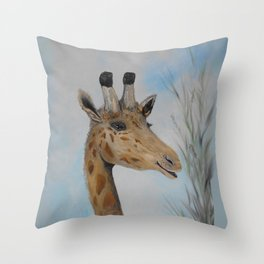 Giraffe Smile Throw Pillow