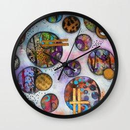 Original Abstract - The Markie Wall Clock