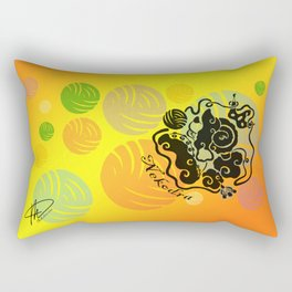 Rainbow Yarn Logo (Fiery Bg) Rectangular Pillow