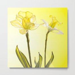 Yellow Botanical Summer Blossom Metal Print