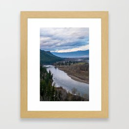 The Bitterroot in the Fall Framed Art Print