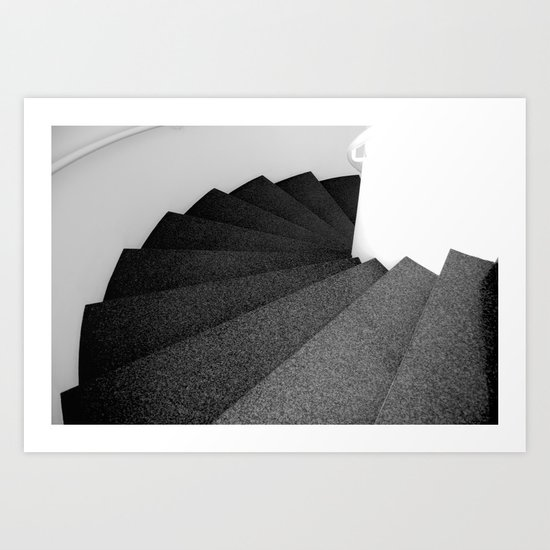 The snail stairs, Barcelona Art Print