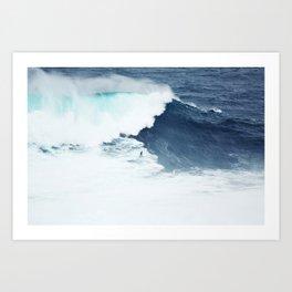 Wave Surfer Indigo Art Print