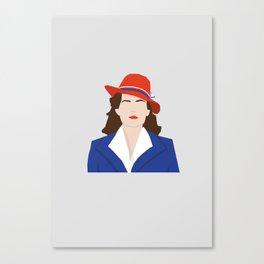 Agent Carter Vector Canvas Print