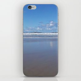Blue and White Beach iPhone Skin