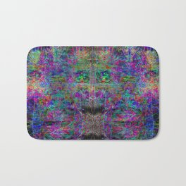 Senile Scream (abstract, psychedelic, visionary, glowing edges) Bath Mat