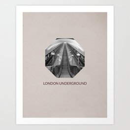 LONDON UNDERGROUND  Art Print