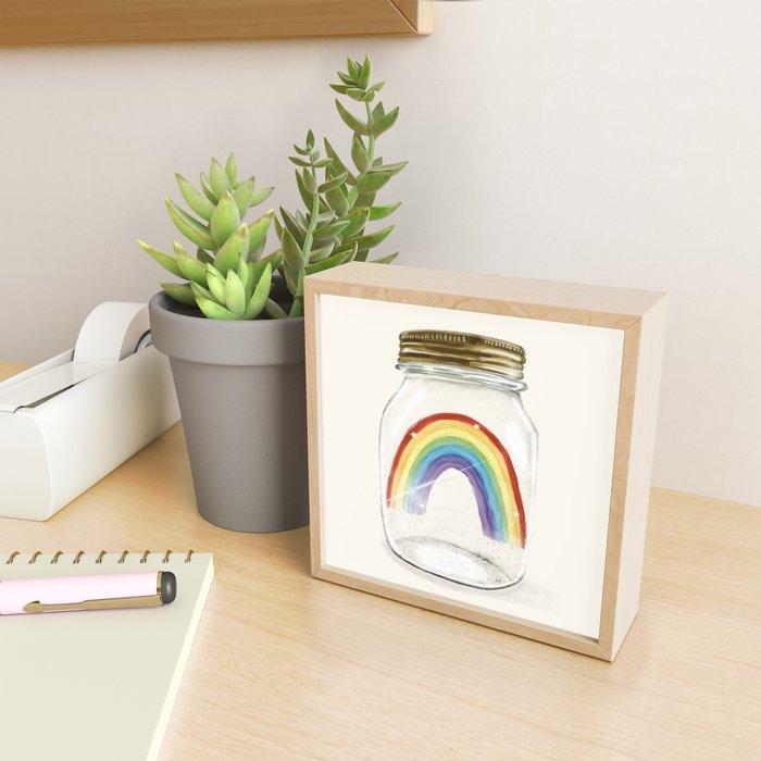 little rainbow Framed Mini Art Print