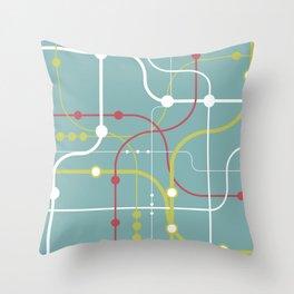 Line By Line - Bubblegum Pop-A Throw Pillow