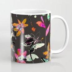 multicolored ink flowers Mug