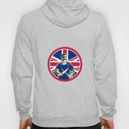British Butcher Union Jack Flag Icon Hoody