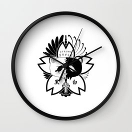 Panda Paw Paw T-Shirt Logo (Black) Wall Clock