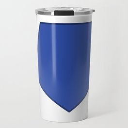 Football image in dazzling blue and white space Travel Mug
