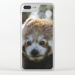 The Red Panda Clear iPhone Case