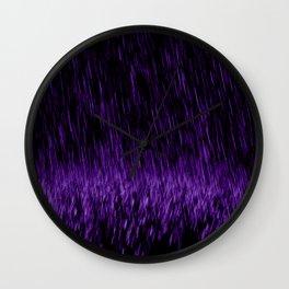 Violet Precipitation - a Prince 0(+> tribute Wall Clock