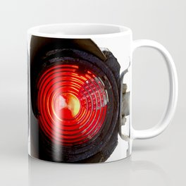 Red Warning Light Of A Railroad Signal Lamp Coffee Mug