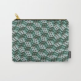 Abstract twisted cubes Carry-All Pouch