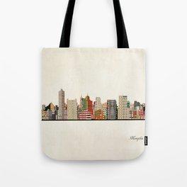 memphis skyline Tote Bag